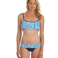 Splendid Coastal Crop Top | Banded Bathing Suit Bottom | Trendy Swim