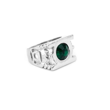 DC Comic Superhero Green Lantern Ring Super Hero Green Magical Power Crystal Ring For Men Fashion Accessories Movie Jewelry