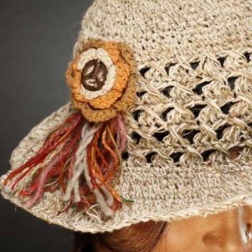 Hippie/Boho Music Festival Hemp Hat/FREE SHIPPING TODAY