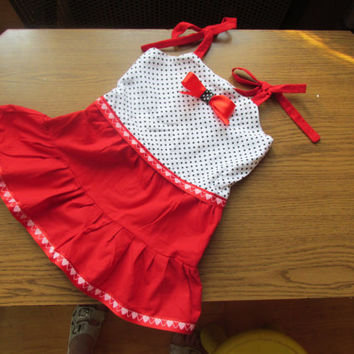 Red girl dress, flower girl dress, red dress for a girl, clothing for girls, baby summer clothes, toddler, fashion dress