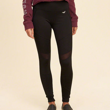 Girls Hollister Cali Sport Mesh Panel Moto Leggings | Girls Bottoms | HollisterCo.com