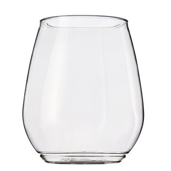 TOSSWARE 18oz Shatterproof Wine and Cocktail Glass - SET OF 12 - BPA-Free Upscale Recyclable/Disposable Plastic Cups