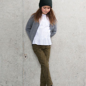 Miller London - Pant TIMPLE in khaki - FINAL SALE