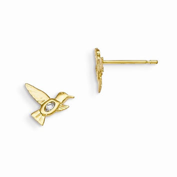 14k Madi K Hummingbird Post Earrings
