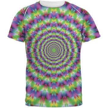 PEAPGQ9 Trippy All Over Adult T-Shirt
