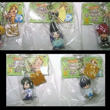 Banpresto Hikaru No Go Key Chain Holder Accessories Mascot Strap 5 Mini Figure Set