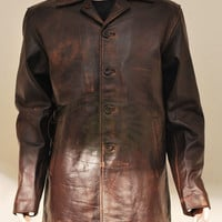Supernatural Dean Winchester Brown Rub Buff distressed Cow Hide Leather Jacket