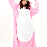 KIGURUMI Cosplay Romper Charactor animal Hooded PJS Pajamas Pyjamas Xmas gift Adult Costume sloth Onesuit outfit Sleepwear-rabbit
