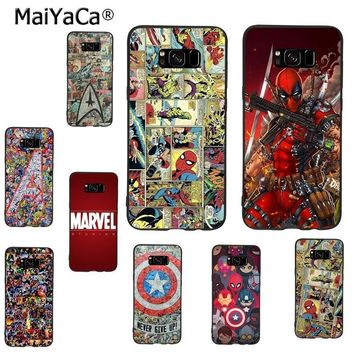 Deadpool Dead pool Taco MaiYaCa The Avengers Marvel  Flash Captain America Phone Case for samsung galaxy note 8 4 5 s7edge s6 s8 s9 plus coque AT_70_6