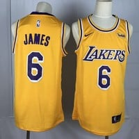 Men's Los Angeles Lakers LeBron James Nike Gold Swingman Jersey - Best Deal Online