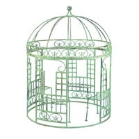 Fantasy Iron Gazebo with Benches