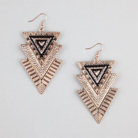 Full Tilt Triangle Earrings Gold One Size For Women 24184762101