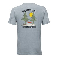 Men's Short-Sleeve Tree Tri-Blend Tee in Dusty Blue Heather by The North Face
