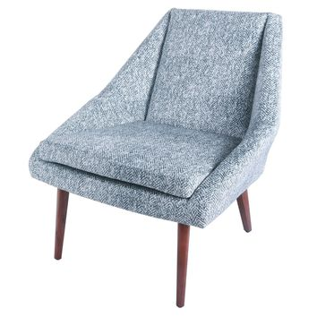 Enzo Fabric Accent Chair, Quiver Indigo Blue