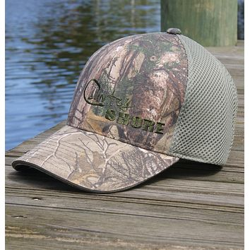 Realtree Camo Hat with Velcro Strap Air Mesh Back - Green