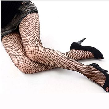 Women's Sexy Black Fishnet Stockings Hollow Out Mesh Net Pattern Pantyhose Hollow Tights Free Shipping