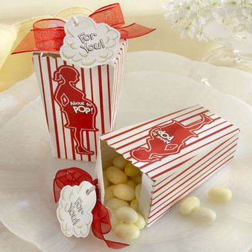 """About to Pop!"" Popcorn Favor Box (Set of 48)"