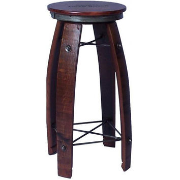 "28"" Daisy Swivel Stave Stool (Made from Wine Barrels)"