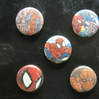 Spiderman Magnets / Pin Back Buttons Pack