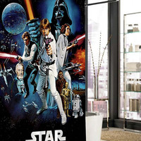 star wars   shower curtain, curtains, shower curtains size 36x72 48x72 60x72 66x72