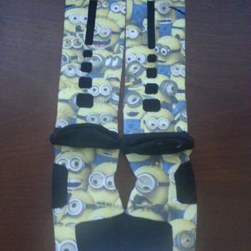 Despicable me custom nike elite socks