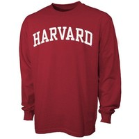 Harvard Crimson Vertical Arch Crimson Long Sleeve T-shirt