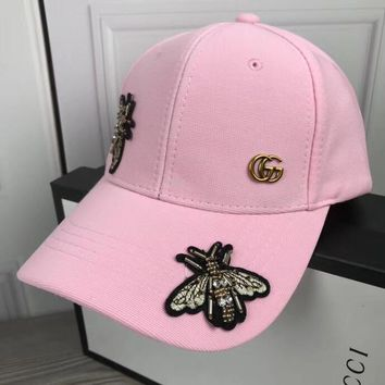 GUCCI Bee Embroidery Baseball Hat