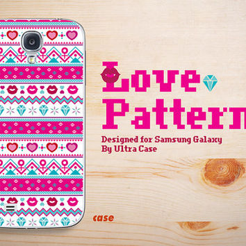 Samsung galaxy S3 case pattern,Cute galaxy S4 case,pink Samsung Galaxy Note 3 case,valentine gift Galaxy Note 2 case,Case for S3/S4/N2/N3