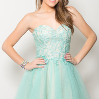 Oh Happy Day Dress-Mint/Nude