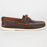 Sperry Top-Sider Authentic Original Two-Tone Mens Boat Shoes Brown  In Sizes