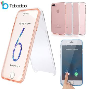 360 Full Protect Case For iPhone X Xs Max XR 7 8 Plus 6 6s Transparent Cover Case Ultra Thin Acrylic PC Back Silicone Phone Case