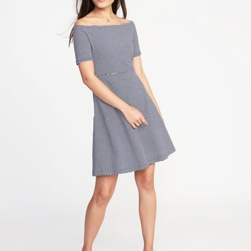 Fit & Flare Off-the-Shoulder Dress for Women | Old Navy