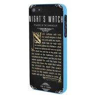 Game Of Thrones Nights Watch iPhone 5 Case Framed Blue