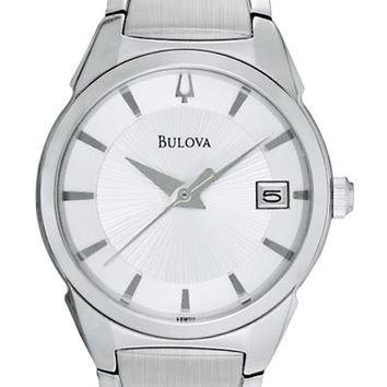 Bulova 96M111 Women's Silver Dial Stainless Steel Quartz Watch