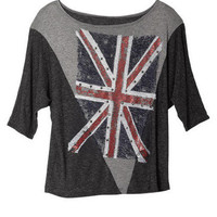 Union Jack with Studs Long Sleeve