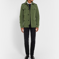 Gucci - Leather-Trimmed Canvas Field Jacket | MR PORTER
