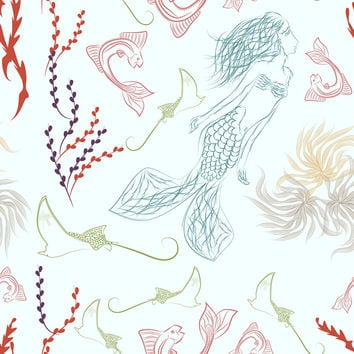 Mermaid II Removable Wallpaper