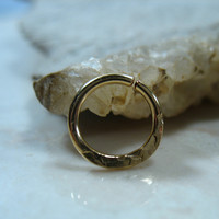 Septum Ring 14k Gold Filled Chiseled
