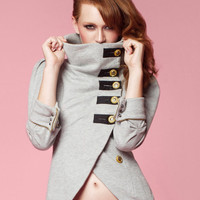 Tuck Madison Zip-Back Military Jacket - Size XS, S, M, L ..Available in Black & Grey Heather