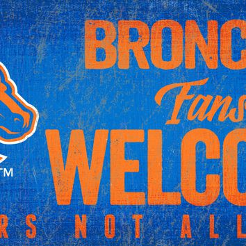 Boise State Broncos Wood Sign