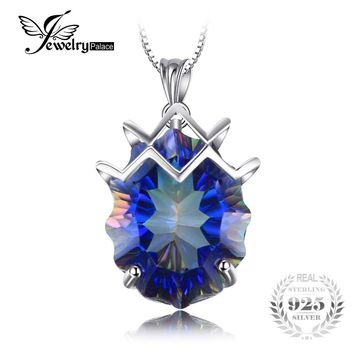 Brand New Huge 21ct Genuine Rainbow Fire Mystic Topaz Gem Stone Solid 925 Sterling Silver Pendant Vintage Aliexpress Hot Sale