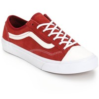 Vans Style 36 Slim Red Leather Shoes