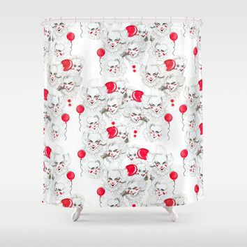 Pennywise Expressions Pattern Shower Curtain by MAGENTA ARTS