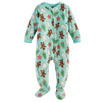 Baby Jammies For Your Families Holiday Cookies Microfleece Footed Pajamas | null