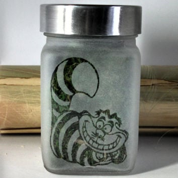 Alice in Wonderland Inspired Cheshire Cat Stash Jar - Birthday Gifts for Her - 420 Gift