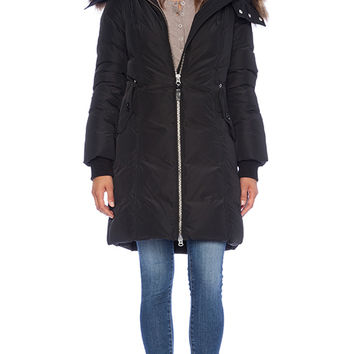 Mackage Eileen Jacket with natural Raccoon fur  in Black