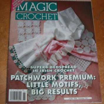 Magic Crochet Magazine June 1996 Cotton Thread Little Motifs, Bedspread