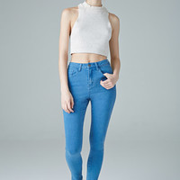 Medium Wash High-Rise Skinny Jeans