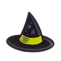 Sourpuss Witch Hat Enamel Pin | Attitude Clothing