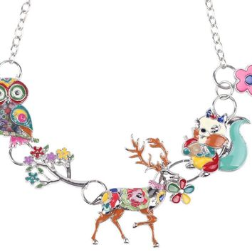 Stag, Deer, Squirrel, Owl,  Moose Chain Necklace